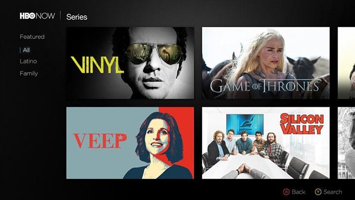 Ứng dụng xem online trên Smart tivi