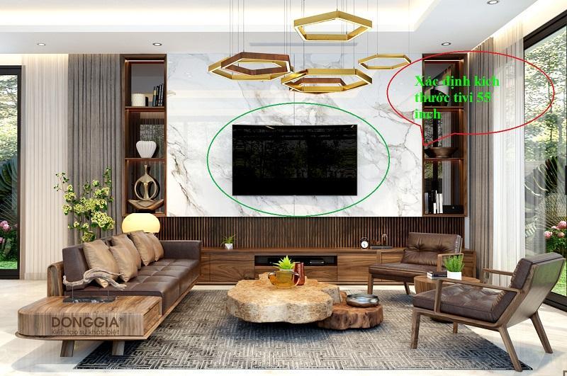 Kích thước tivi 43 inch để thiết kế nội thất