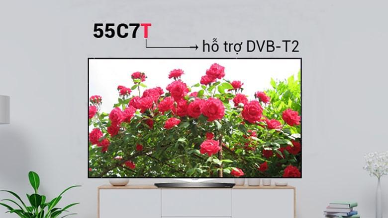 tivi 55C7T hỗ trợ DVB-T2