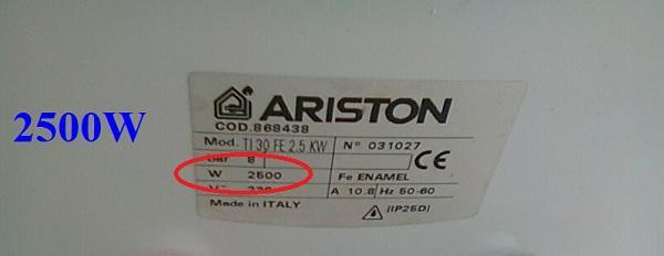 công suất bình nóng lạnh