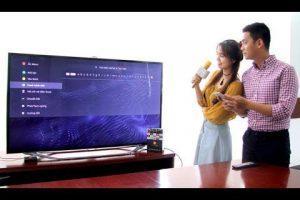 Hát karaoke bằng ứng dụng trên smart tivi Sony