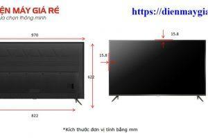 Kích thước tivi 43 inch là bao nhiêu