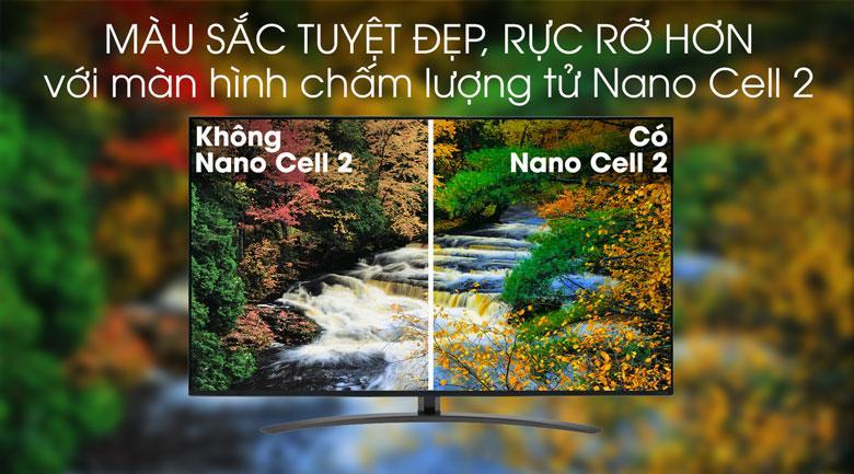 màu sắc tuyệt đẹp, rực rõ hơn với màn hình châm lượng tử nanocell 2