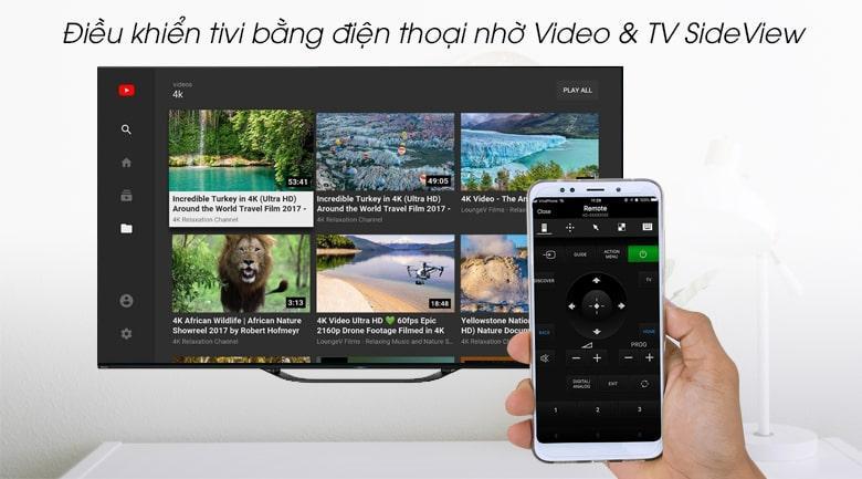 điều khiển tivi bằng điện thoại nhờ Video&TV SideView