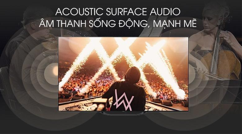 Acoustic Surface Audio âm thanh sống động, mạnh mẽ