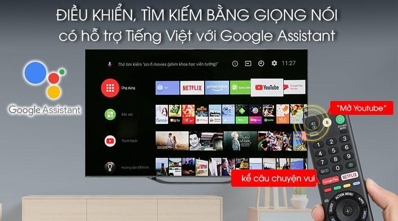 Điều khiển, tìm kiếm bằng giọng nói có hỗ trợ tiếng Việt với Google Assitant
