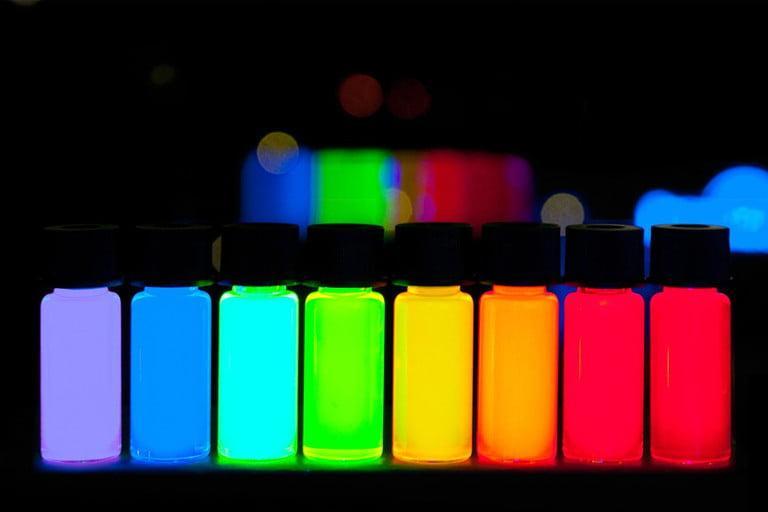 màu châm lượng tử trên tivi QLED