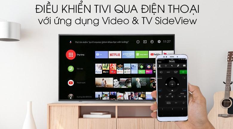 điều khiển tivi qua điện thoại với ứng dụng Video & TV SideView