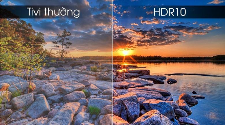 công nghệ HDR 10 cho độ tương phản sắc nét