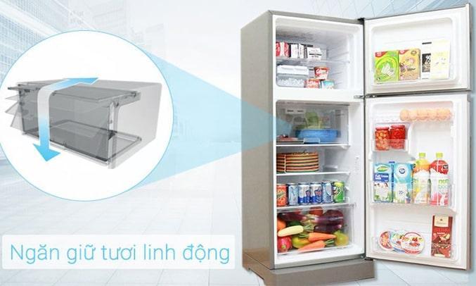Tủ Lạnh SHARP SJ-X201E-SL ngăn giữ tươi linh động