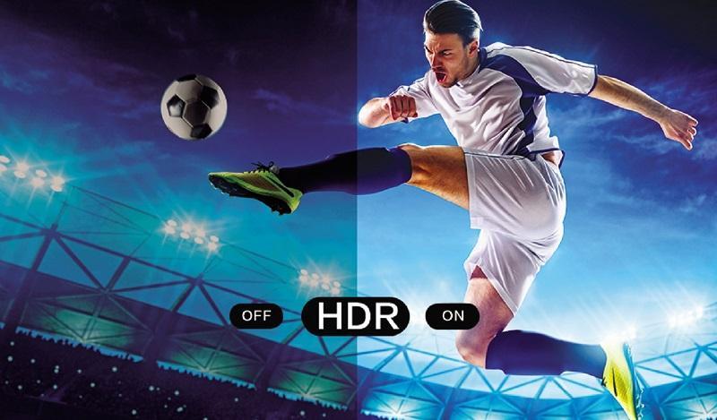 Smart tivi Casper 4K 55 inch 55UG6000 sử dụng công nghệ HDR