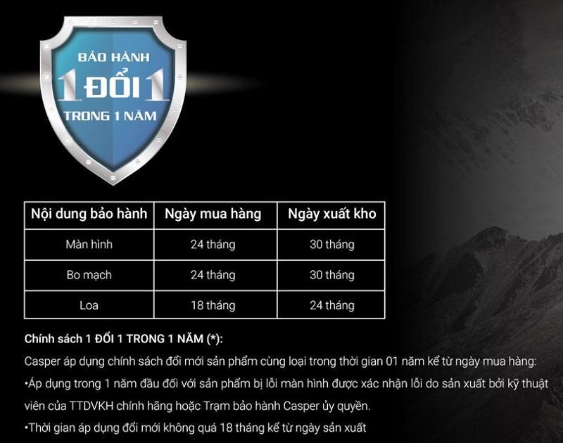 Tivi Casper 50UG6000 Bảo hành 1 đổi 1