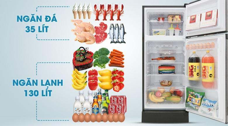 Tủ lạnh Sharp SJ-X196E-DSS sử hữu dung tích 165 lít