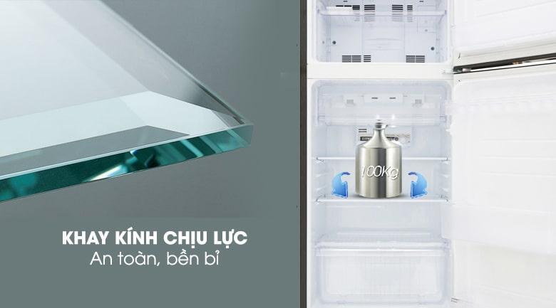 Tủ lạnh Sharp SJ-X196E-DSS trang bị khay kính chịu lực an toàn, bền bỉ