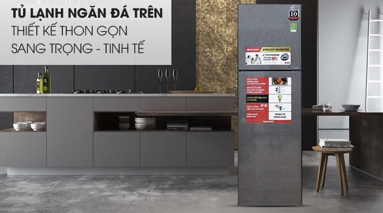 Tủ lạnh Sharp SJ-X281E-DS thiết kế thong gọn, sang trọng