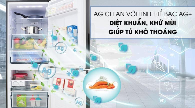 AG CLEAN với tinh thể bạc AG+