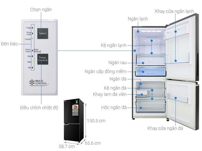 Tủ lạnh Panasonic NR-BV280GKVN