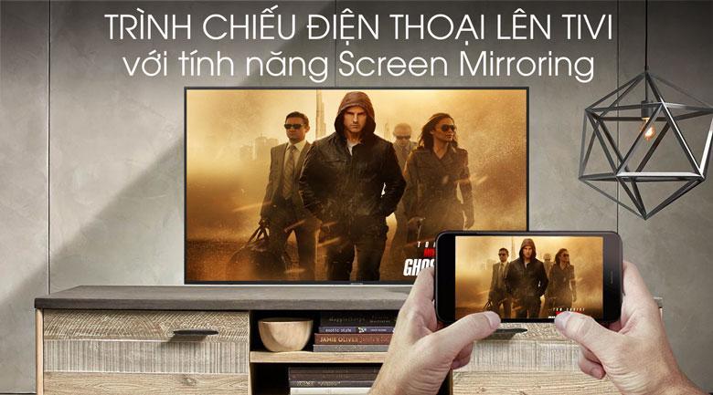 Tivi Samsung UA70RU7200 trình chiếu điện thoại lên tivi với tính năng Screen Mirroring