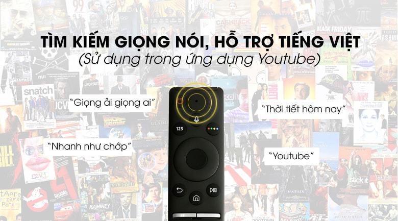 Tivi Samsung UA70RU7200 tìm kiếm giọng nói hỗ trợ tiếng Việt