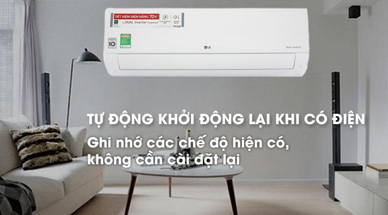 Điều hòa 1 chiều Inverter LG V13APH 12.000BTU Dual Cool