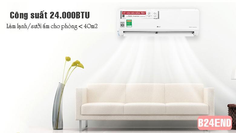 Điều hòa LG 2 chiều 24000BTU inverter B24END