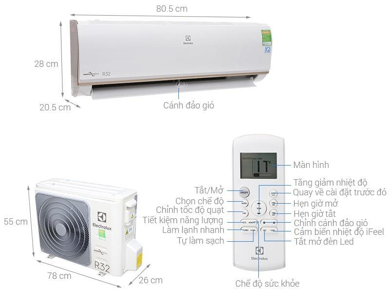 Điều hòa Electrolux ESV12CRO-A1 Inverter 1.5 HP 12000BTU