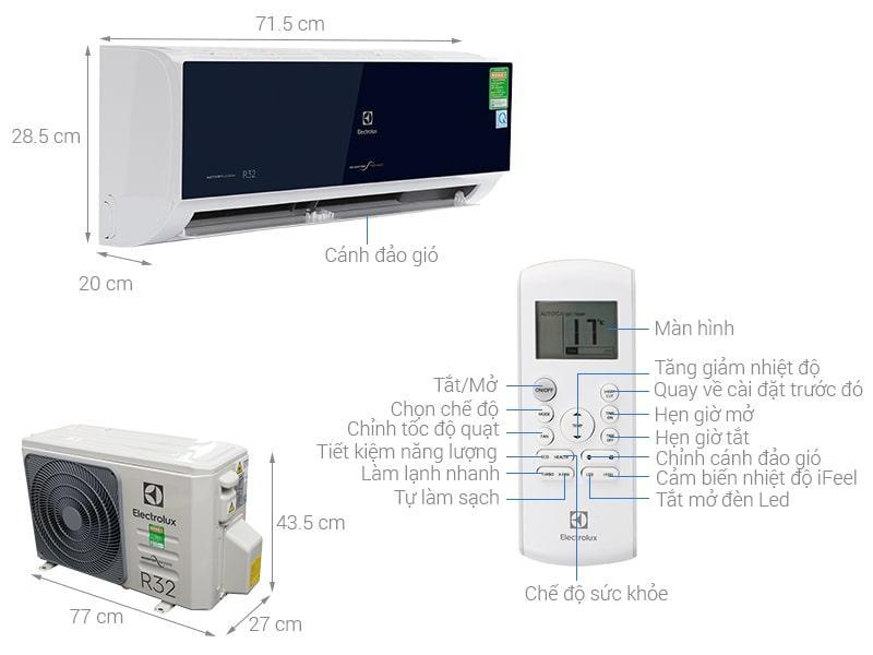 Điều hòa Electrolux Inverter 1 HP ESV09CRO-D1 hiện đại