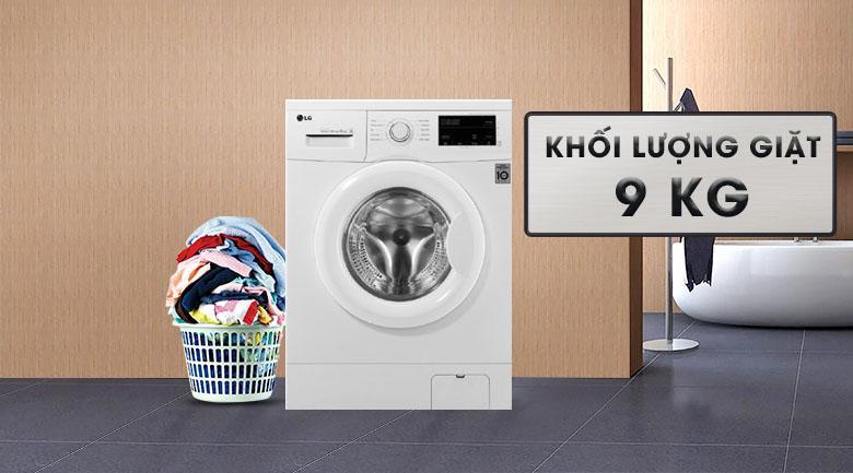 Máy giặt LG FM1209N6W khối lượng giặt 9kg cho gia đình 5 người