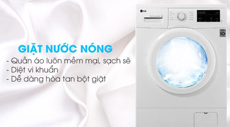 giặt nước nóng giệt sạch khuẩn