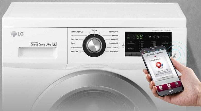Máy giặt LG FM1209N6W smart things