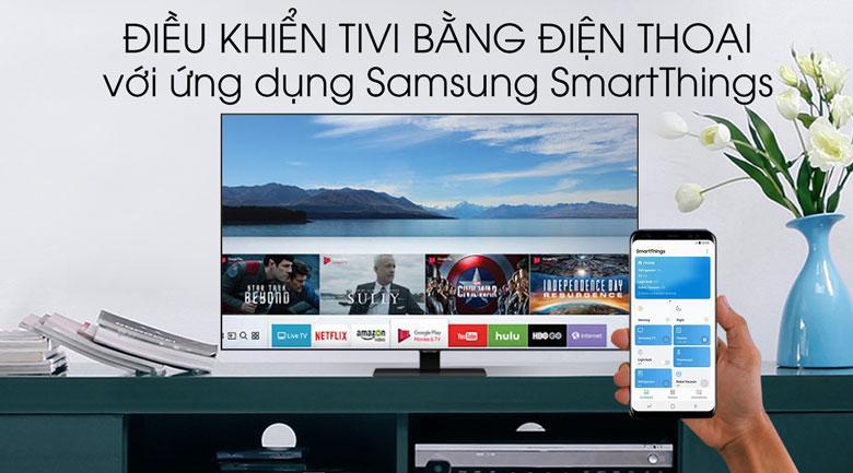 Tivi QLED Samsung QA65Q80T với ứng dụng SmartThings rất tiện lợi