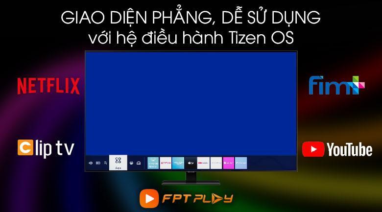 Tivi 65Q80T sử dụng hệ điều hành thân thiện Tizen OS