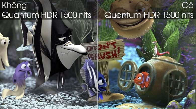Tivi QLED Samsung QA65Q80T trang bịcông nghệ Quantum HDR 1500 nits
