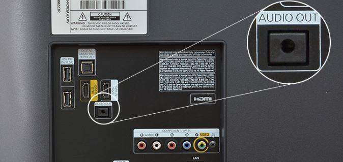 Kết nối loa với tivi qua jack cắm 3.5 mm