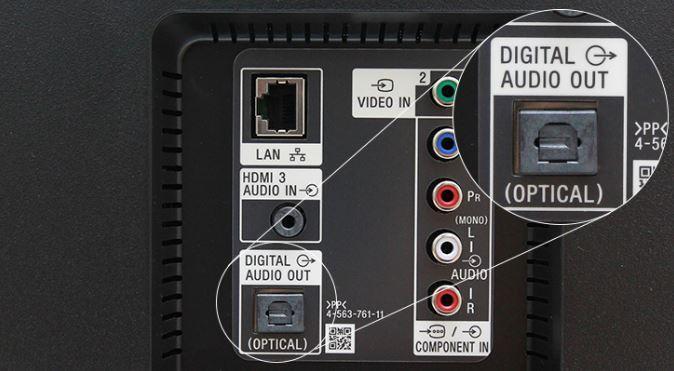 Kết nối loa với tivi qua cổng Optical