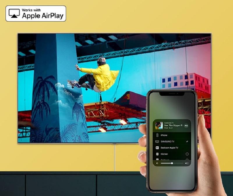 Cùng AirPlay 2 kết nối đến TV rất dễ dàng