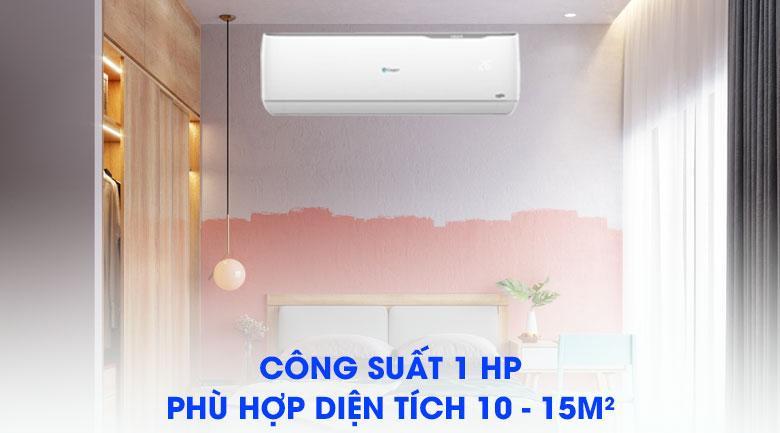 Cho phép sử dụng cho phòng có diện tích nhỏ 10 - 15 m2