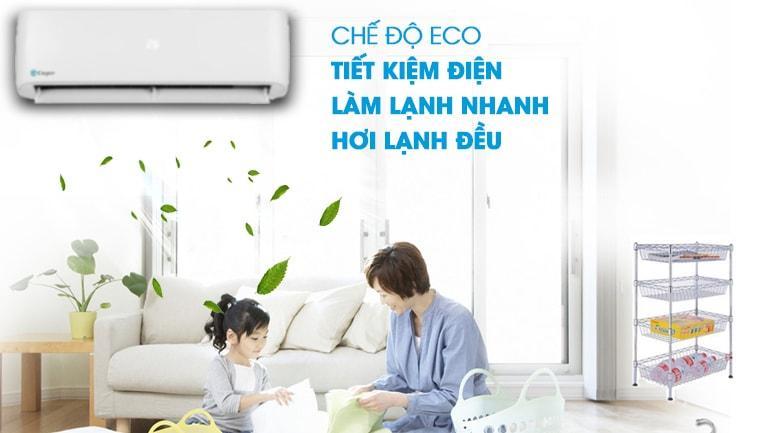 Chế độ Eco rất tiết kiệm điện năng hàng tháng