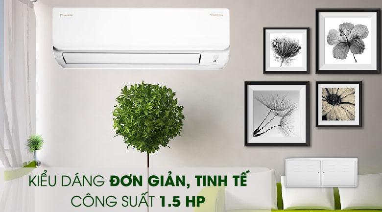 Công suất 1.5 HP ~ 12000BTU rất phù hợp với không gian từ 15 - 20 m2