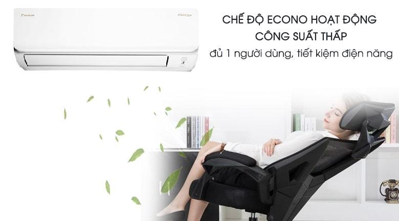 Tiết kiệm điện năng vô cùng hiệu quả với chế độ Econo