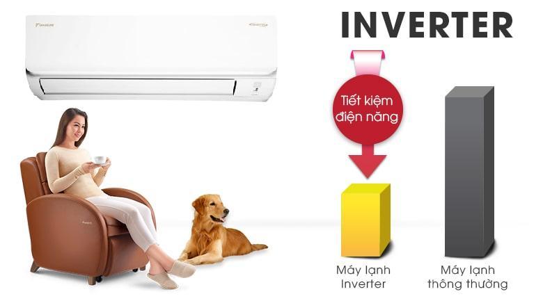 Công nghệ Inverter không chỉ tiết kiệm điện mà còn giúp hoạt động êm ái, ổn định
