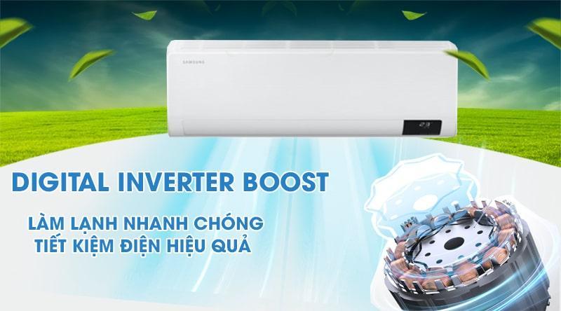 Điều hòa Samsung AR10TYGCDWKNSV làm lạnh nhanh chóng vì có Digital Inverter Boost