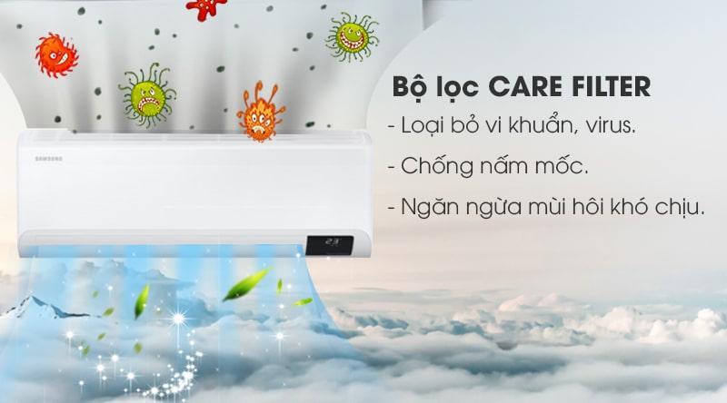 Điều hòa Samsung AR10TYGCDWKNSV trang bị bộ lọc Care Filter kháng khuẩn