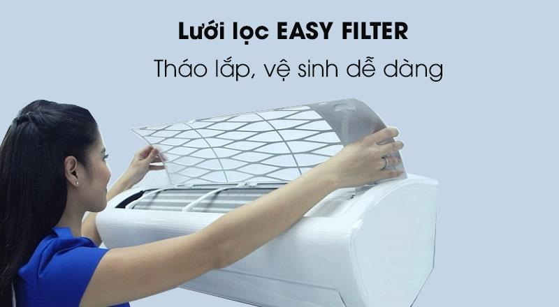Trang bị lưới lọc bụi bẩn Easy Filter giúp tháo lắp, vệ sinh cực kỳ đơn giản
