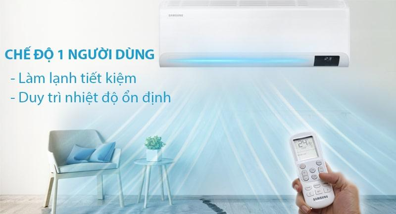 Điều hòa Samsung AR18TYHYCWKNSV trang bị chế độ 1 người dùng rất tiết kiệm