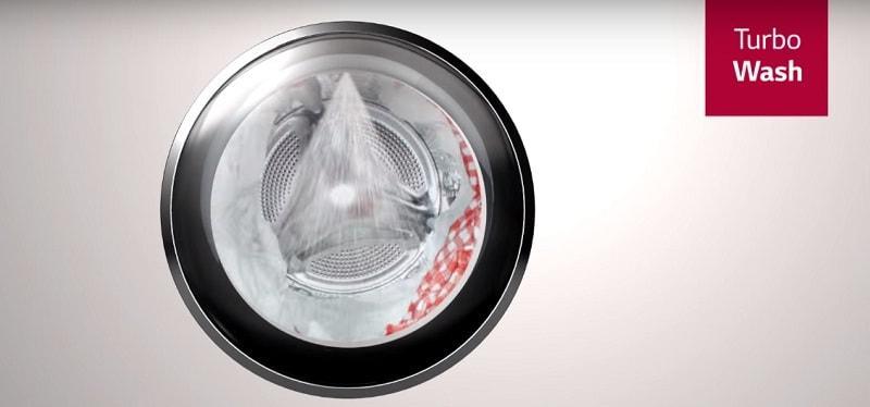 giặt nhanh chóng với công nghệ turbo wash