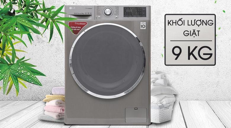 Máy giặt LG FC1409S2E có khối lượng giặt lên đến 9kg