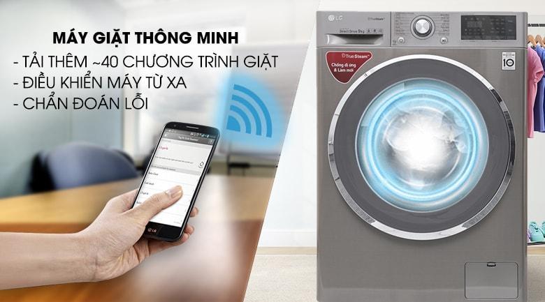 máy giặt thông minh điều khiển từ xa