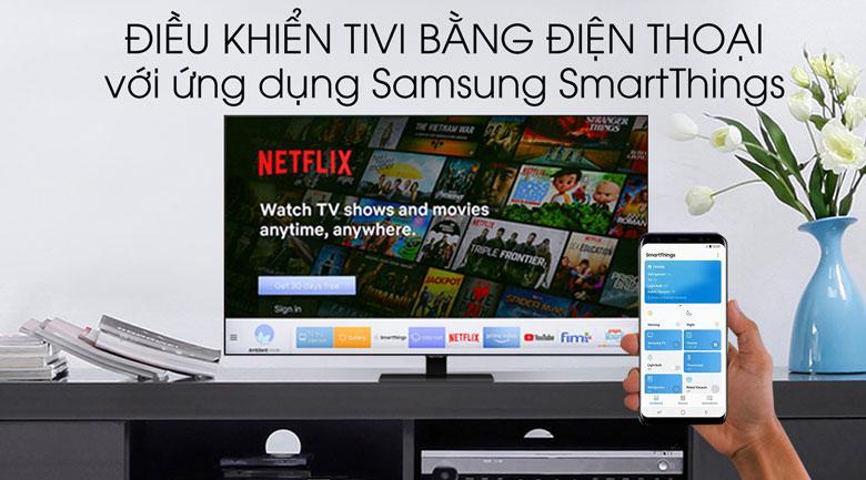 Trang bị ứng dụng SmartThings giúp bạn điều khiển tivi bằng điện thoại