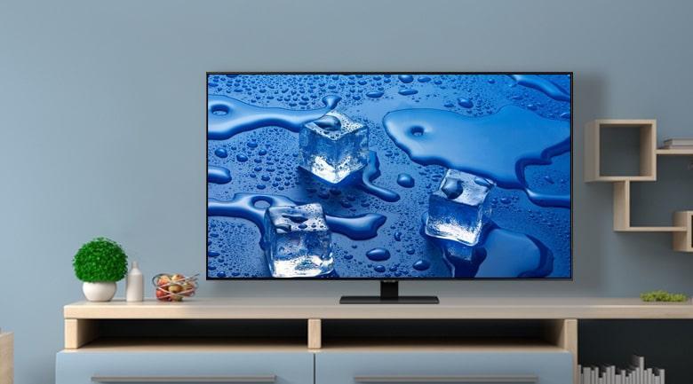 Tivi QLED Samsung QA49Q80T mang đến thiết kế màn hình không viền tuyệt vời